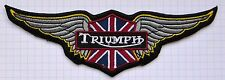 Triumph Motorcycles Cloth Iron On Patches Appliques