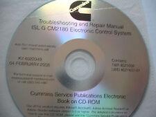 DISC Cummins Troubleshooting Repair ECS ISL G CM2180 Engines Service Shop Manual