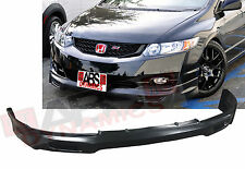 2009 2011 Honda Civic Coupe Mugen Style Front Lip Unpainted Black PolyUrethane
