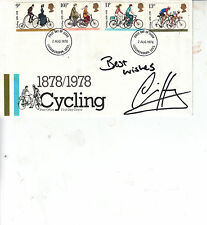Chris HOY HAND Signed Autograph First Day Cover CYCLING 1878/1978