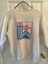 Vintage Olympics sweat Shirt sweatshirt Lake Placid Winter Games 1980 sz.large