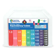 Learning Resources Fraction Tower Equivalency Cubes (51 Piece) NEW