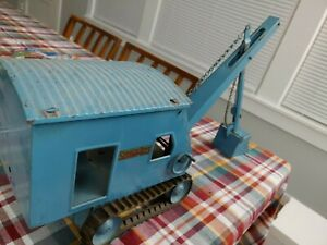 Pressed Steel NICE!!! Vtg blue Structo Toys Steam Shovel Construction Co Crane