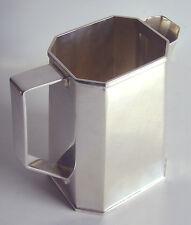 BEAUTIFUL Vintage MODERNIST Silver Plated ST JAMES of BRAZIL Octagonal PITCHER