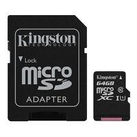 64GB Kingston microSDHC/microSDXC Speicherkarte UHS-I Klasse 10 ist mit 45MB/s