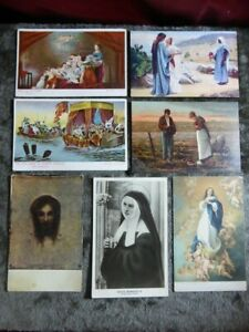 7 x RELIGIOUS POSTCARDS Classic themes / scenes / art / Murillo - Vintage cards