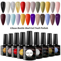 8ml Candy UV Gel Nail Art Polish Soak off Base Top Coat MEET ACROSS Glass Bottle