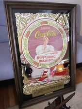 "VINTAGE   COCA   COLA    MIRROR     MADE IN   OCTOBER  1976    28"" X 40"""