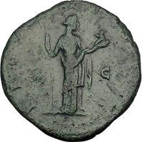 FAUSTINA II Marcus Aurelius Wife Sestertius Ancient Roman Coin Fertility i52083