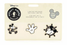 Disney Memories Mickey Mouse Steamboat Willie 3 Pin Set - January Limited Edition