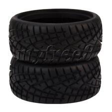 More details for 4pcs rc 1:10 racing car tires plastic rubber fish pattern shape tire black