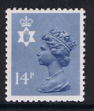 GB QEII Northern Ireland. SG NI38 14p Grey-Blue PP Type I. Regional Machin.