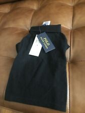 New! Rl Polo Shirt For Dogs Size M Black And Dark Grey New (2 Shirts)