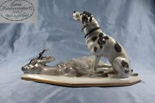Reh bock  jagdhund Hirsch hutschenreuther porzellan figur hund porzellanfigur