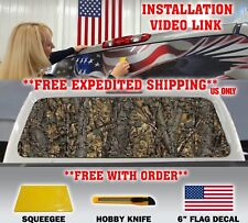 CAMO CAMOUFLAGE PICKUP TRUCK REAR WINDOW GRAPHIC DECAL TINT HUNTING CAMO