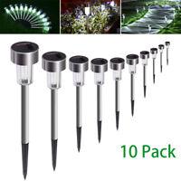 10x Solar Power LED Stake Lights Patio Outdoor Garden Lawn Path Lamp Waterproof