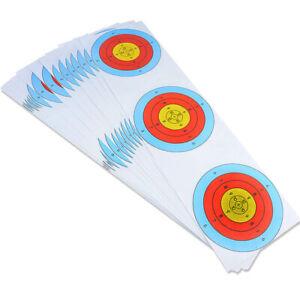 16x58cm Archery Targets Paper Face Spot Gun Pistol Ring Bow Shooting Practice