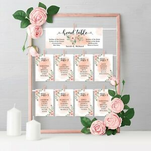 Personalised Wedding Table Plan Seating