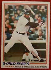 1978 REGGIE JACKSON YANKEES WORLD SERIES TOPPS BASEBALL TRADING CARD #413 MT/NM