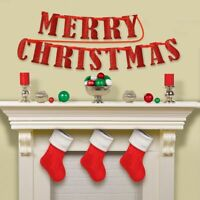 Kurt Adler Merry Christmas Banner Ornament Holiday Garland Decoration 9 Ft Vtg
