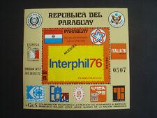 """Paraguay, Jahresereignisse Interphil, Block 275 mit Aufdruck """"Muestra"""" !, ** MNH"""