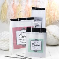 PERSONALISE WEDDING GIFT BAGS | ORNATE | PAPER PARTY FAVOURS WITH TISSUE