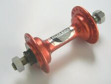 """NOS 1983 Maillard Helicomatic RED Anodized BMX Front Hub 3/8"""" 36h France"""