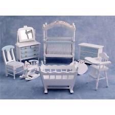 Blue Nursery Furniture Set 1:12 Scale for Dolls House