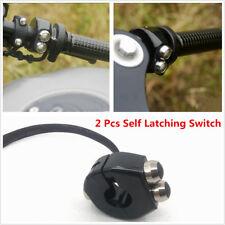 2pcs Universal Aluminum Motorcycle Handlebar 22mm Self Latching Switch 3 Buttons