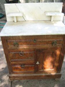 Antique Marble Topped Wash Stand
