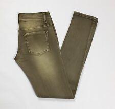 Smagli jeans donna w30 tg 44 skinny stretch aderenti slim usato marrone T2975