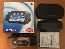 Playstation vita 3G/Wi-Fi model CRISTAL BLACK PCH-1100 AB01 PS vita with case