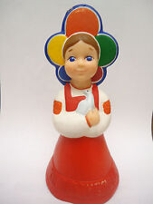 Vintage Ussr Rusian ' Katyusha 'Rubber Doll Toy - XII Youth Festival MOSCOW 1985