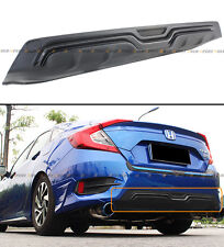 For 2016-17 Honda Civic 4d Sedan Black Carbon Look Texture Rear Bumper Diffuser