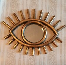 Dark Gold Tribal Eye See You Wall Round Mirror Hanging Decoration Decor Small