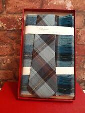 Vintage Boxed & Unused Craigmill Pure Wool Tie & Scarf Set Made In Scotland