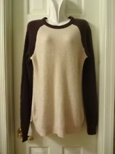 New Old Navy 100% Cashmere Brown and Tan Long Sweater Sz M Tall