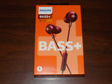 Philips BASS+ In-Ear Headphones Handsfree Calls Red SHE4305RD NIB Sealed FS!!!!!