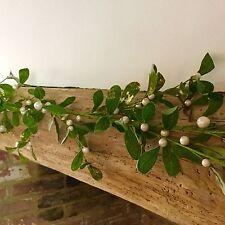 1.5m Artificial Mistletoe Garland Christmas Mantel Beam Decoration Gold Glitter