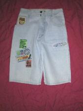 Silver-kurze 5-pocket-Jeans - Gr.M- Denim -mit Applikationen