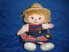 "Campbell's Soup Kids Girl 2000 Plush Beanbag doll 7"""
