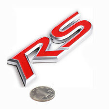 "New RS Red 3D  "" RS "" Logo Rear DOOR Side EMBLEM Badge For CHEVROLET CHEVY CRUZE"