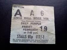 Deep Purple  ticket Kings Hall Belle Vue Manchester 19/02/71