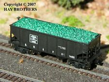 Hay Brothers CRUSHED GREEN GLASS LOAD - fits BOWSER GLa 2-Bay Hopper Cars