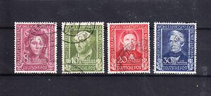 Bundesrepublik Nr. 117-120 gestempelt Wohlfahrt 1949
