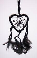 BLACK HEART DREAM CATCHER Wall Door Hanging Handmade DREAMCATCHER Feather