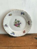 "Winterling Fine China Flower Garden Gold Trim Bavaria Germany 6 1/8"" Bread Plate"