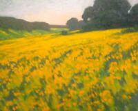 California Dreaming Oak Impressionism Poppies Landscape Art Oil Painting hills