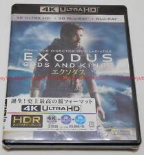 New EXODUS Gods and kings 4K ULTRA HD UHD + 3D Blu-ray + 2D Blu-ray Japan F/S