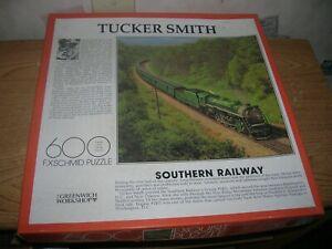 "600  Piece  Jigsaw Puzzle   by Tucker Smith  ""Southern Railway""  FX Schmid Puzzl"